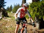 Mathias Flückiger holt sich erstmals den Schweizer Meistertitel im Cross Country (Bild: KEYSTONE/GIAN EHRENZELLER)