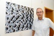 Heinz Waser zeigt mit seinen Wasserwellenbildern eine andere Art der Fotografie. (Bild Hansruedi Rohrer)