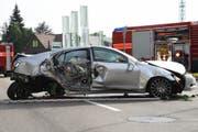 Der Wagen wurde abgeschleppt. (Bild: Kapo SG)