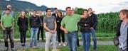 Im Beisein zahlreicher Mitglieder und Gäste eröffnete der Verein Rheintaler Ribelmais zum 20-Jahr-Jubiläum das Erlebnismaisfeld Ribeläum. (Bild: René Jann)