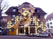 Für das Wandbild an der Bernstrasse liegen bereits erste Entwürfe vor. (Bild: PD)