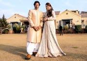 Imran Khan und seine Ex-Frau Reham Khan. Bild: EPA (Islamabad, 8. Januar 2015)
