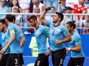 Luis Suarez schoss sein zweites Tor bei dieser WM (Bild: KEYSTONE/AP/HASSAN AMMAR)