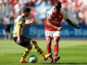 Ab dieser Saison Teamkollegen: Abdou Diallo (rechts, noch im Dress des FSV Mainz) und Dortmunds Christian Pulisic (Bild: KEYSTONE/EPA/FRIEDEMANN VOGEL)