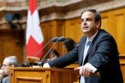 Der CVP-Präsident Gerhard Pfister während einer Debatte im Nationalrat. (Bild: KEYSTONE/Peter Klaunzer)