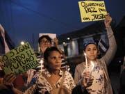 In Costa Rica haben sich zahlreiche Flüchtlinge aus Nicaragua eingefunden und protestieren auch dort gegen die Regierung in Managua. (Bild: KEYSTONE/EPA EFE/JEFFREY ARGUEDAS)