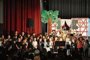 Die Kinder bei der Premiere auf der Bühne. (Bild: PD)