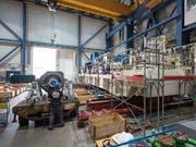 MAN Energy Solutions produziert mitten im Stadtzürcher Kreis 5 Kompressoren für die Öl- und Gasindustrie. In den kommenden Jahren soll der Personalbestand in Zürich sogar noch ausgebaut werden. (Bild: KEYSTONE/GAETAN BALLY)