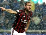 Leonardo Bonucci kann nach heutigem Stand in der kommenden Saison mit Milan nicht in der Europa League spielen (Bild: KEYSTONE/EPA ANSA/PAOLO MAGNI)