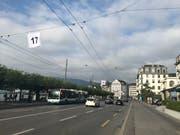 Event-Fahnen auf dem Schweizerhofquai. (Bild: PD)