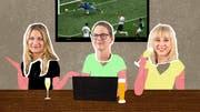 Die WM-Bloggerinnen (v.l.): Online-Redaktorin Alexandra Pavlovic, Focus-Redaktorin Katja Fischer de Santi und Ostschweiz-am-Sonntag-Chefin Odilia Hiller (Illustration: Patric Sandri)