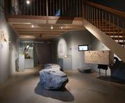 Blick in die neue Bartgeier-Ausstellung im Tierpark Goldau (Bild: PD)