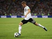 Thomas Müller rackerte gegen Mexiko (0:1) und Schweden (2:1) zwar, vermochte aber noch nicht viel zu Deutschlands Offensivspiel beizutragen. (Bild: KEYSTONE/EPA/FRIEDEMANN VOGEL)