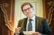Regierungsrat Jakob Stark (SVP) an der Sitzung des Grossen Rates des Kantons Thurgau in Frauenfeld.