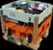 """Hier der Roboter mit dem Namen """"Blockchainer"""". (Bild: NTB)"""