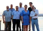 Die OK-Mitglieder des Lions Club Mannenbach-Salenstein Geri Heidelberger, Rudi Günther, Paul Hasler, Marcel Balli, Stephan Heinz, Peter Dünner sowie Eveline Schaffner von «Viva con Agua». (Bild: PD)