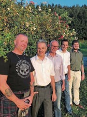 Die Kandidaten der SVP Risch (von links): René Zimmermann, Flavio Roos, Franz Zoppi, Matthias Werder und Patrik Kretz. (Bild: PD)