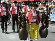 Das Unspunnenfest, das dieses Wochenende stattfindet, ist eine von 199 Lebendigen Traditionen, die es auf die Schweizer Liste der schützenswerten immateriellen Kulturgüter geschafft hat. Die Liste ist online (http://www.lebendige-traditionen.ch): eine Einladung zum Stöbern und Schmökern. (Bild: Keystone/PETER SCHNEIDER)