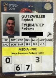 Auch ich bin nun Besitzer eines Passes, der zu den Spielen berechtigt. (Bild: Raphael Gutzwiller)