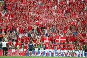 Dänemark trotzt Frankreich ein 0:0 ab und feiert das Weiterkommen. (Bild: AP)