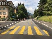 Die Spitalstrasse wird momentan saniert (Bild: Stadt Luzern)