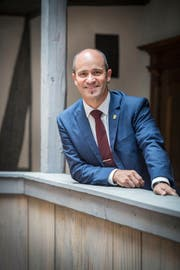 Turi Schallenberg der neue Grossratspräsident im Rathaus Frauenfeld. (Bild: Andrea Stalder)