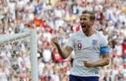 Harry Kane führt die WM-Torschützenliste mit fünf Toren an. (Bild: AP)