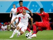 Den Tunesier Wahbi Khazri (Nr. 10) vermochte Panama nicht zu stoppen (Bild: KEYSTONE/EPA/ERIK S. LESSER)