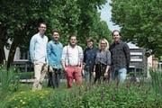 Samuel Imfeld, David Uster, Kai Imholz, Isabel Liniger, Laura Hürlimann, Fabio Fölmli (von links) setzen sich für ein Parlament in Baar ein. (Bild: PD)