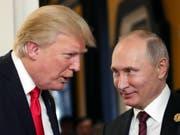 Der mit Spannung erwartete Gipfel zwischen US-Präsident Donald Trump und dem russischen Staatschef Wladimir Putin findet am 16. Juli in der finnischen Hauptstadt Helsinki statt. (Bild: KEYSTONE/EPA SPUTNIK POOL/MIKHAIL KLIMENTYEV/SPUTNIK/KREMLIN POO)