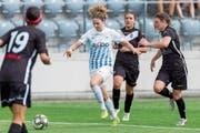 Luana Bühler (Mitte) im Cupfinal gegen Lugano (1:0-Sieg n. V.). (Bild: Pascal Müller/Freshfocus (Biel, 2. Juni 2018))