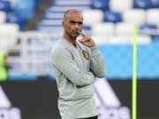 Belgiens Trainer Roberto Martinez schont seine Topstars (Bild: KEYSTONE/EPA/ARMANDO BABANI)