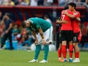 Deutschland (hier Niklas Süle) ist nicht zum ersten Mal seit 1978 an einem grossen Turnier vorzeitig gescheitert (Bild: KEYSTONE/AP/FRANK AUGSTEIN)