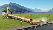 Achtung, fertig, Flug: Am Seenachtsfest lädt Fanta zum speziellen Rutscherlebnis mit der «Thunderstorm» ein. (Bild: PD)