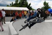 Am 14. Juni 2018 wird der Skate- und Rollerpark Obwalden in Sarnen eröffnet. Er ist der grösste seiner Art in der Zentralschweiz. (Archivbild: Robert Hess)