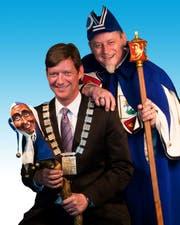 Der neue LFK- Chef Mike Hauser (links) mit seinem Weibel Martin «Kari» Bründler (Bild Heinz Steimann).