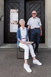 Elisabeth und Thomas Krucker vor dem Kornhaus in Rorschach. (Bild: Sabrina Stübi)