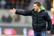 Trainer Marinko Jurendic: Ist er der kommende Mann an der FCL-Seitenlinie? Bild: Laurent Gillieron/Keystone (Sion 2. März 2017)