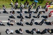 Die Brass Band Feldmusik Winikon am Luzerner Kantonal-Musiktag 2018. (Bild: Philipp Schmidli (Eschenbach, 3. Juni 2018))