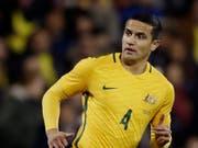 Tim Cahill bestreitet in Russland seine vierte WM für Australien und könnte einen von Pelé, Uwe Seeler und Miroslav Klose gehaltenen Rekord egalisieren (Bild: KEYSTONE/AP/TIM IRELAND)