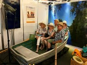 Spassiges Fotoshooting am Stand der Clientis Bank.