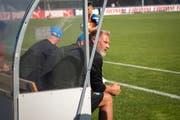 GC-Trainer Thorsten Fink sah gegen den FC Wil kein Tor seiner Mannschaft. (Bild: Melanie Duchene)