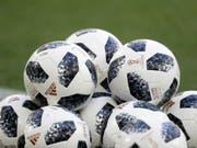 2x30: So viele offizielle WM-Bälle erhalten die 32 WM-Teilnehmer für ihre Trainings und die WM-Vorbereitung (Bild: KEYSTONE/AP/PETR DAVID JOSEK)