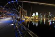 Singapur mit dem Marina Bay Sands, dem ArtScience Museum und der Skyline des Geschäftsdistrikt. (Bild: Getty)