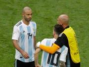 Javier Mascherano nimmt in der Nationalmannschaft Abschied von Kollege Lionel Messi (Bild: KEYSTONE/AP/SERGEI GRITS)