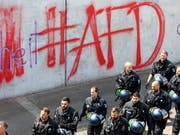 AfD-Graffiti in Berlin. (Bild: KEYSTONE/EPA/OMER MESSINGER)