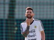 Lionel Messi vor dem WM-Achtelfinal gegen Frankreich (Bild: KEYSTONE/AP/RICARDO MAZALAN)