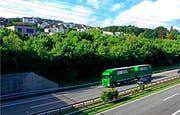 Direkt an der Autobahn: Das Quartier Sonnenberg-Steig in Rorschacherberg. (Bild: Fritz Bichsel)