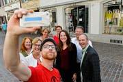 Die acht Thurgauer SP-Politiker, die zur Zeit das Präsidium in einem politischen Gremium inne haben. (Bild: Donato Caspari)