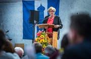 Herdern TG - 20 Jahre Gemeinde Herdern. Fest in der Maschinenhalle Herdern. Festansprache durch Regierungspräsidentin Cornelia Komposch. (Bild: Andrea Stalder)
